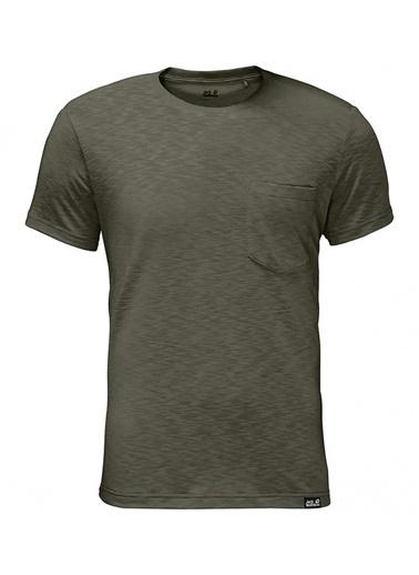 Jack Wolfskin Travel Tee Erkek T-Shirt - 1805591-5052 Yeşil